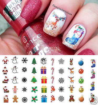 Holiday Christmas Nail Art Waterslide Decals - Salon Quality!