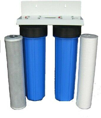 "Whole House Restaurant Big Housing Water Filter System 20""x 4.5"" Sediment Carbon"