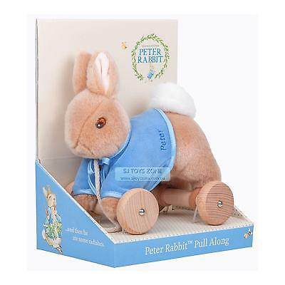 Peter Rabbit Wooden Classic Pull Along Activity Toy