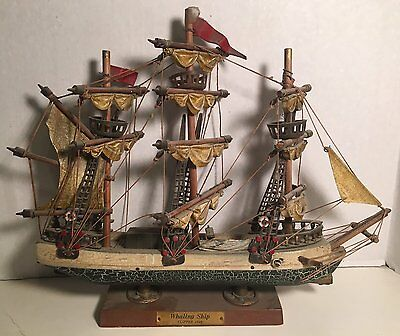 Vintage Wooden Whaling Ship Clipper 1846 Boat