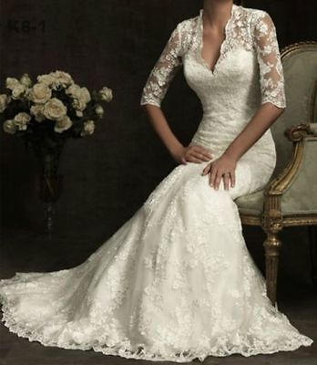 New White Wedding dress Bridal Lace Gown size 8 10 12