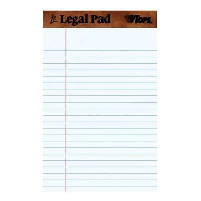 Universal 5 x 8 White 12 pk Pads Jr Legal Size Narrow Rule Perforated 50 Sheet