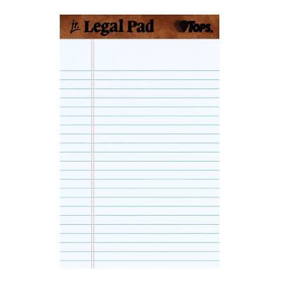 Universal 5 x 8 White Writing Legal Pads Narrow Rule Perforated 50 Sheet 12 pack