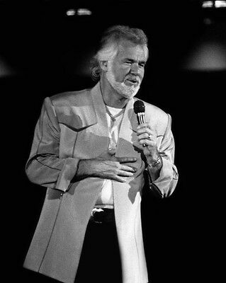 Country Singer Actor KENNY ROGERS 8x10 Photo Singing Celebrity Poster Print