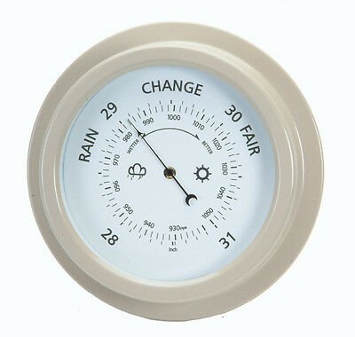 Large Round Garden Barometer  Clay Coloured by Garden Trading
