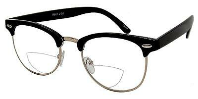 Unisex Bifocal Reading Glasses Classic Style Pr73 With Pouch & Cloth