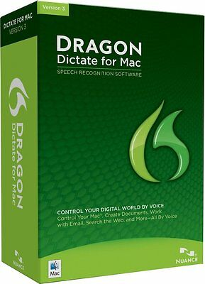 Nuance DRAGON DICTATE 3 for MAC Retail Incl.Headset Fast Post