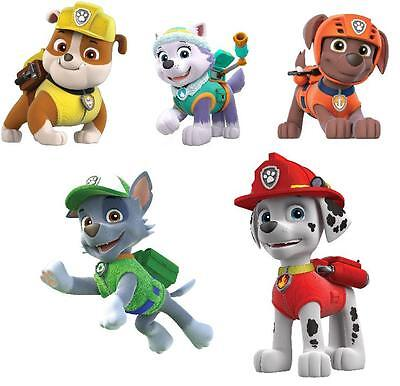 5 Paw Patrol  Vinyl Wall Stickers 3 Sizes A6 A5 A4