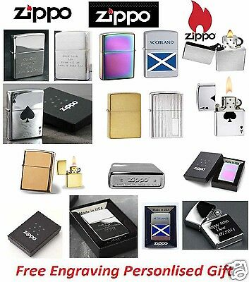 Genuine ZIPPO Lighter Personalized With Free Engraving Boxed Gift Made In USA