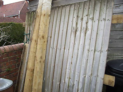 6 ft high wooden feather edge garden  fence panel