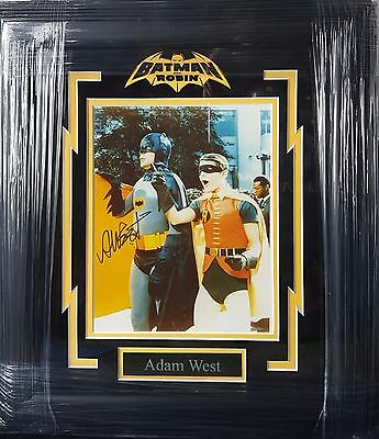 Adam West Batman 1960s TV show Autographed Signed Custom Framed 8x10 Photo rare