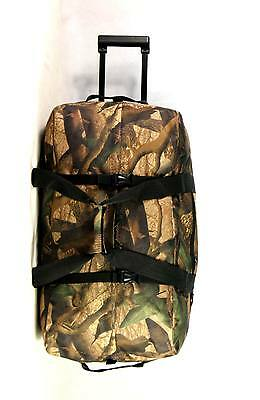 New RD030 Camouflage Large Rolling Duffle Wheeled Travel Duffel