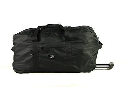 New RD030 One Main Compartment Large Rolling Duffle Wheeled Travel Duffel Bag BK