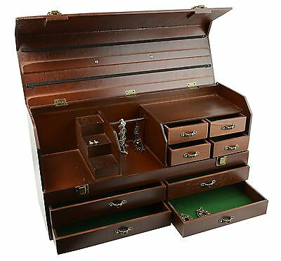Wooden Jewellery Tool Storage Treasure Chest BD803-54
