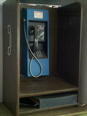 Vintage Telephone  Wall Pay Phone Nj Bell + Wall Enclosure