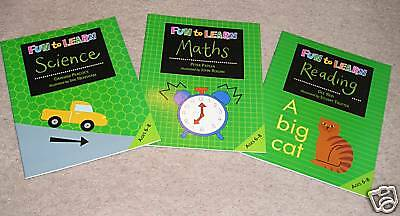 FUN TO LEARN - 3 Books NEW SET  (age 6-8) RRP £12