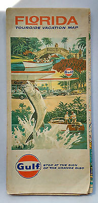 1971 GULF Oil and Gas Tour Guide Tourist Map Advertising