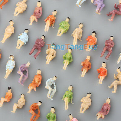 100 x All Seated 1:150 1:200 Scale Model Painted Figures people sitting N Z