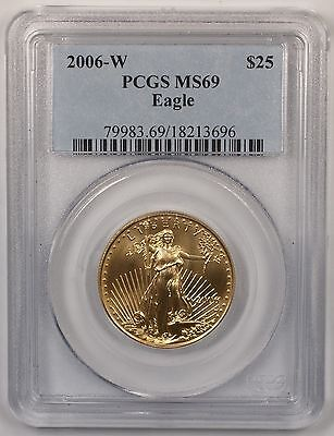 2006-W $25 American Gold Eagle 1/2oz AGE Coin PCGS MS-69