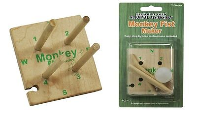 Monkey Fist Maker Jig for Craft Projects Paracord Accessories Key Fobs Etc
