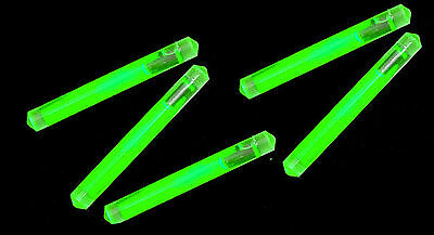 "5 Pack Light Sticks IM Survival Zombie Green Glow 1"" Emergency Glow Stick Snap"