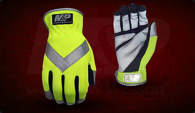 Smith & Wesson Tactical Hand Gloves MP307 M&P Performance Hi Vis Reflective Tape