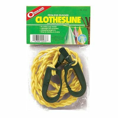Coghlan's Clothespin Free Pegless Bungee Clothesline- Camping Travel RV Swimming