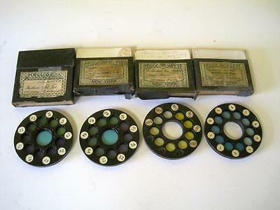 Lot Of 4 Color Disc Wheel Hellige Klett 22023 40869 45524 47503 Phenol Red Boxes
