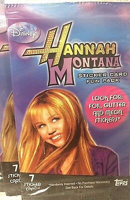 Lot Of 24 Hannah Montana Collectible Sticker Card Fun Pack ~ Free Shipping