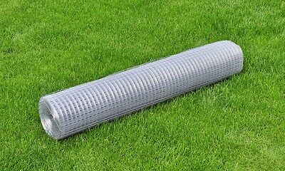 1x25M Chicken Wire Pet Mesh Fence Fencing Coop Aviary Hutches Galvanised Square