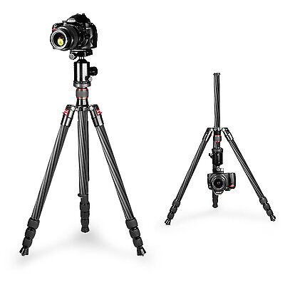 Neewer Portable Carbon Fiber Camera Tripod Monopod With 360° Ball Head ND#17