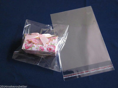 Self-adhesive Sticker Plastics Clear Transparent Poly Bags OPP Seal Package Sack