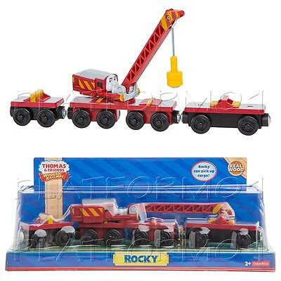 ROCKY CRANE MAGNETIC ARM Thomas Wooden Engine Train NEW