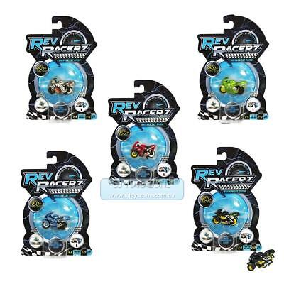 5 x Rev Racerz Collectible Motorcycle Racing Toy Single Packs Deal