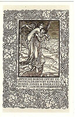 Postcard Arts & Crafts Movement Design William Morris Ed Burne-Jones - Nostalgia