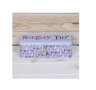 *bright Side Naughty Tin Secret Stuff With Lock Lockable Padlock Novelty Gift*