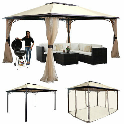 pergola mataro garten pavillon 4cm stahl gestell mit seitenwand 4x3m eur 175 99 picclick de. Black Bedroom Furniture Sets. Home Design Ideas