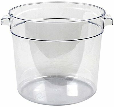 Thunder Group Polycarbonate Round Food Storage Container, 6-Quart, Clear