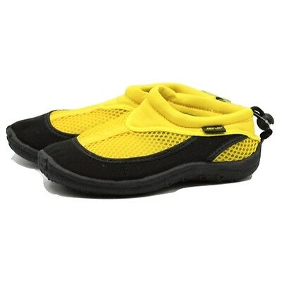 Trufit Kids' Swimshoes Back String and Toggle Black/Yellow Size 3