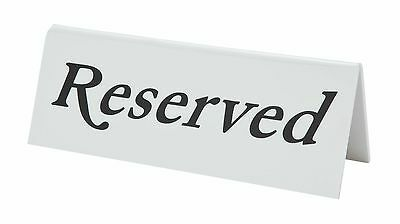 Pack Of 5 X  Plastic Reserved Table Bar Restaurant Signs Sign