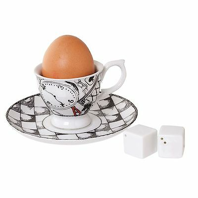 Top Choice Alice In Wonderland Egg Cup and Salt and Pepper