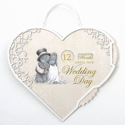 Me to You Wedding Day Countdown Hanging Plaque - Tatty Teddy Bear