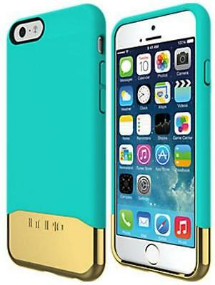 New Incipio Edge Chrome Slider Case With Chrome Finish For iPhone 6S Teal Gold