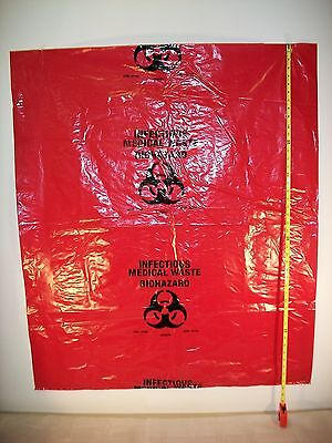 "Bio Hazard Infectous Waste/trash Can Bag Liner 38"" X 45"" 1.5 Mil - 100 Each"