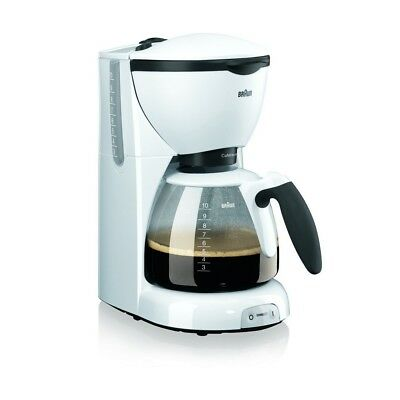 Braun Domestic Home KF 520/1 PurAroma Weiss Filter-Kaffeemaschine 1100 W