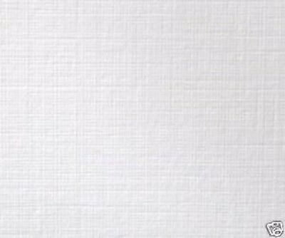 Crafters Companion LINEN TEXTURED CARD 300gsm WHITE A4 x 10 Sheets