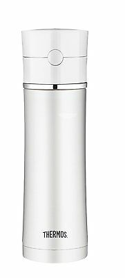 Thermos 18-Ounce Stainless Steel Hydration Bottle, White