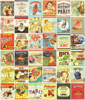 36 Different French Retro Vintage Paper Napkins for decoupage