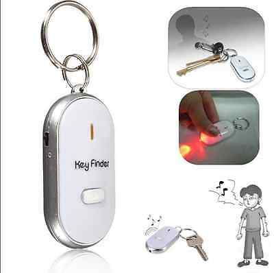 Mini LED Key Finder Locator Find Lost Keys Chain Keychain Whistle Sound Control