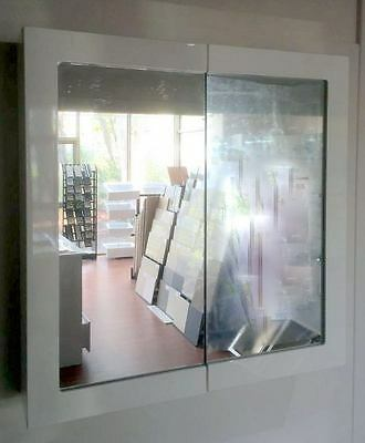 900mm Framed Shaving Cabinet with 2 Mirror Doors